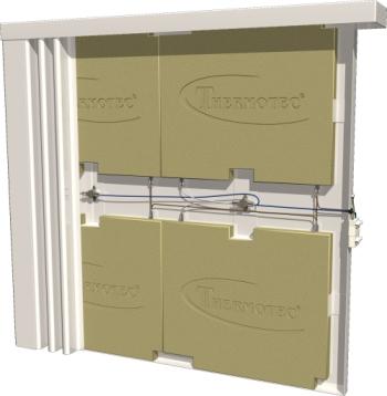 Vue interieur du radiateur a inertie
